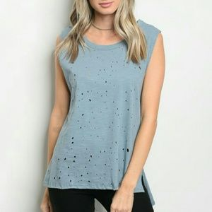 Tops - 🎆Arrived🎆 Distressed t-shirt